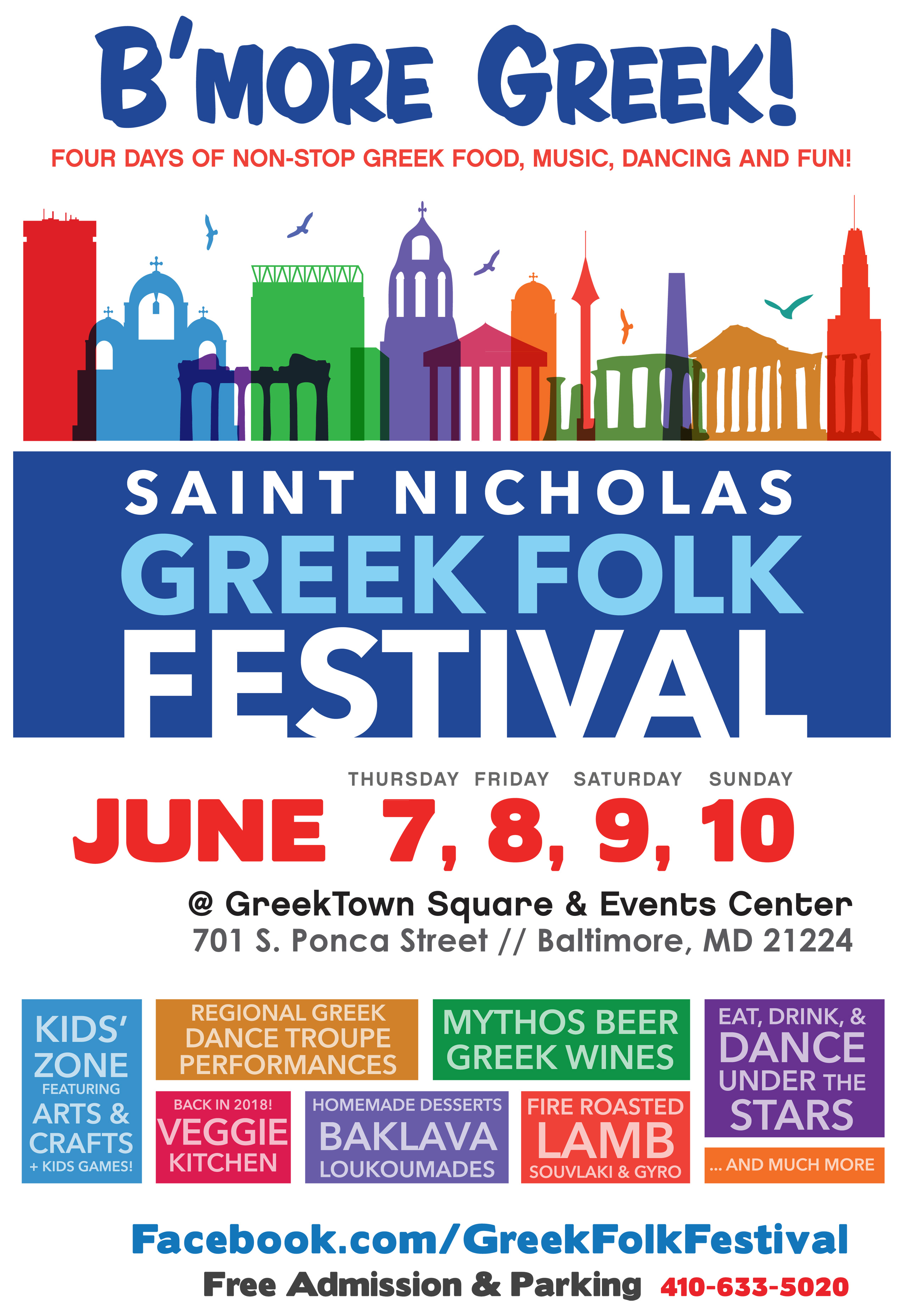Four days and nights of Authentic Greek food, dancing, and entertainment for the entire family.