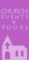 Click here for more on CHURCH TOURS AND OUR FESTIVAL SPEAKER SERIES